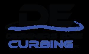 Designers Edge Curbing Black and Blue Logo