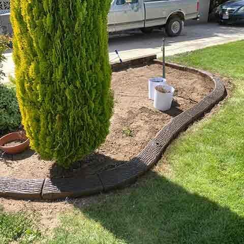 Natural Wood Bark Cement Curbing